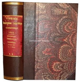 JAKOWSKI- PAMIĘTNIK TOWARZYSTWA LEKARSKIEGOWARSZAWSKIEGO R. 1893, t. LXXXIX