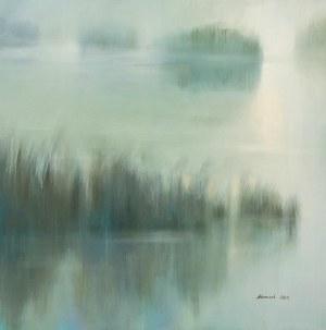 Aleksandra ADAMCZAK, Świt nad rzeką, 2021 r.