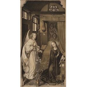 Jan van Eyck, Johann Nepomuk Strixner, Zwiastowanie, 1821, Stutgart
