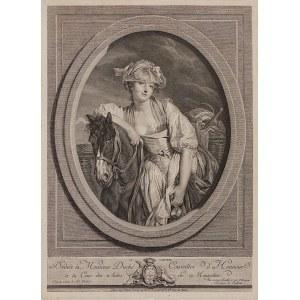 Para grafik - Mleczarka i Rozbity dzban, z obrazów Jean-Baptiste Greuze'a (1725 - 1805)