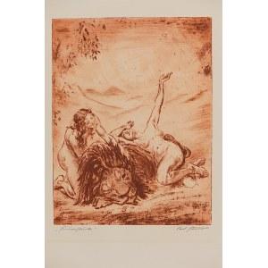 Carl Streller, Erotyk z lwem, ok. 1930