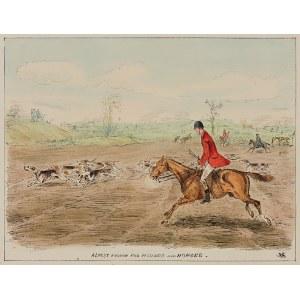 Sceny z polowania, zestaw 7 grafik, Anglia, ok. 1860 r.