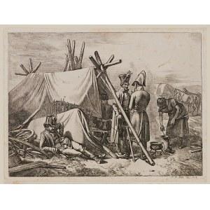 J. A. Klein, Zestaw 3 grafik - Sceny z wojen napoleońskich, 1818