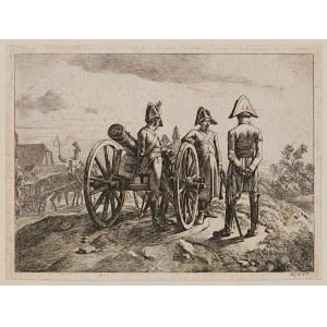 Johann Adam Klein (1792 - 1875), Zestaw 3 grafik - Sceny z wojen napoleońskich, 1818