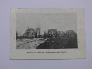 Bodzentyn, Kościół i ruiny zamku biskupiego