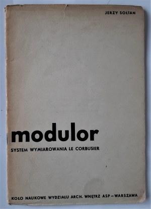Sołtan, Modulor: system wymiarowania Le Corbusier, Warszawa 1948 r.