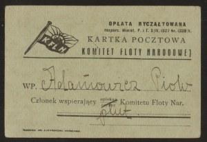 Legitymacja Komitetu Floty Narodowej