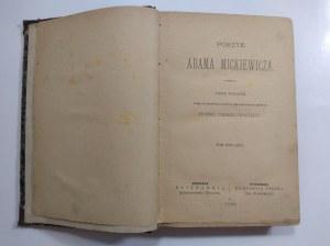 Poezyje Adama Mickiewicza. Tom 4, Warszawa 1888 r.