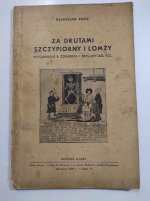 Kęsik, Za drutami Szczypiorny i Łomży, 1936 r.