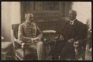 J. Piłsudski i G. Narutowicz, pocztówka fotograficzna