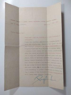 List Tadeusza Przypkowskiego, 1966 r.