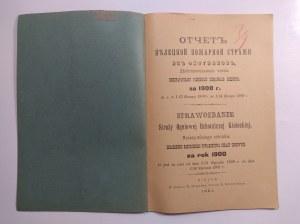 Sprawozdanie Straży Ogniowej Ochotniczej, Kielce 1901 r.