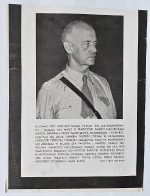 Śmierć Generała Sikorskiego [druk ulotny] Kair, 5 lipca 1943 r.
