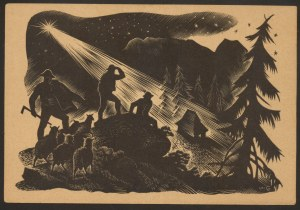Góralska Wigilia, Drzeworyt Wincentego Gawrona