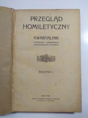 Przegląd Homiletyczny, Rocznik I, Kielce 1923 r.