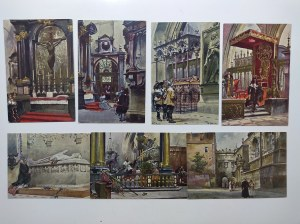 Kraków, Zestaw 10 pocztówek z serii Wawel