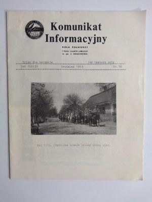 Komunikat Informacyjny Koła Żołnierzy 7 Pułku Ułanów Lubelskich