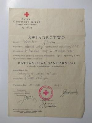 Polski Czerwony Krzyż, Dwa świadectwa, 1939 r.