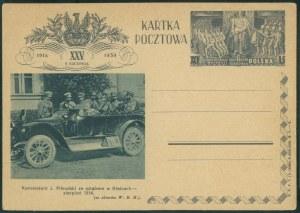 J. Piłsudski ze sztabem w Kielcach, kartka pocztowa