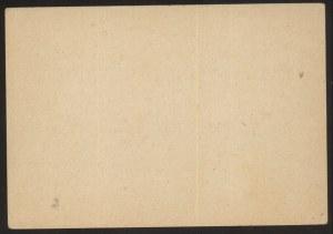 Karta pocztowa i zestaw znaczków, okupacja