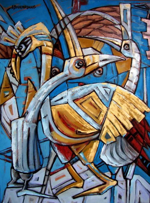 Elżbieta Boukourbane, Ptaki Dziwaki II, 2021