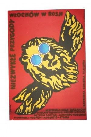 SOCHA - Niezwykłe przygody Włochów w Rozji [1976] reż. Eldar Riazanow / Franco Prosperi , rozmiar ok. 57,5 x 82,5cm