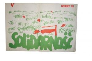 Plakat na wybory w roku 1989 SOLIDARNOŚĆ / Wiosna 33 x 49cm