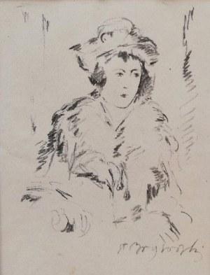 Stanisław Borysowski(1901-1988),Portret kobiety