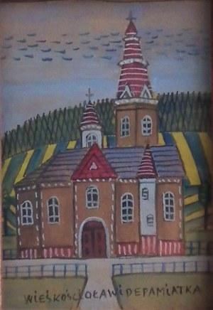 Nikifor Krynicki(1895-1968),Wiejski kościół