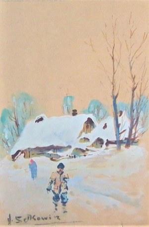Adam Setkowicz(1875-1945),Pejzaż zimowy