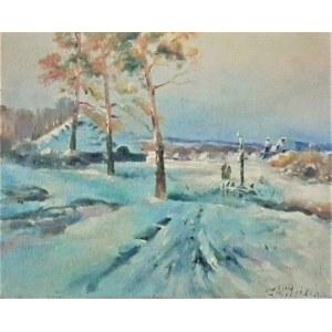 Michał Pociecha(1852-1908),Pejzaż zimowy