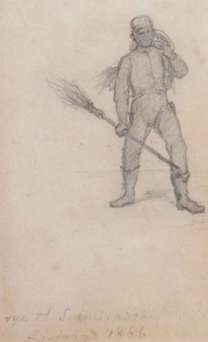 Henryk Siemiradzki (1843 Pieczeniegi k. Charkowa - 1902 Strzałkowo k. Częstochowy), Kominiarz, 1866 r.