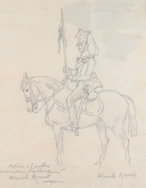 Wojciech Kossak (1856 Paryż - 1942 Kraków), Ułan na koniu