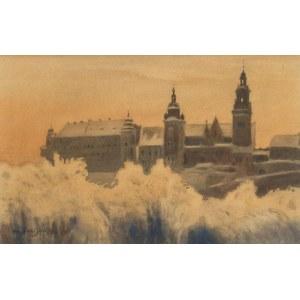 Stanisław Fabijański (1865 Paryż - 1947 Kraków), Widok na Wawel
