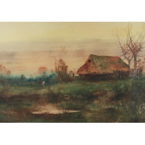 Juliusz Holzmüller (1876 Bolechów – 1932 Lwów), Pejzaż jesienny, 1914 r.