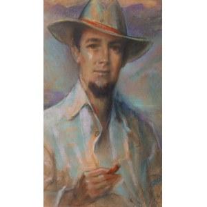 Józef Kidoń (1890 Rudzica – 1968 Warszawa), Portret mężczyzny z cygarem, 1965 r.