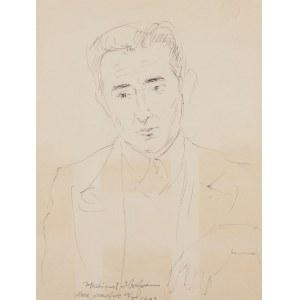 Wlastimil Hofman (1881 Karlino/k. Pragi-1970 Szklarska Poręba), Portret mężczyzny, 1943