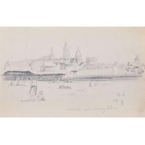 Stanisław Żurawski (1889 Lwów - 1976 Kraków), Wawel od strony błoni, 1929 r.