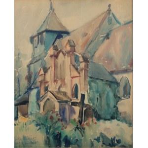 Józef Kozłowski (1905- 1991 Toruń), Kościół w Trzebczu Szlacheckim, 1937 r.