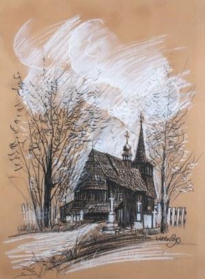 Wiktor Zin (1925 Hrubieszów - 2007 Rzeszów), Drewniany kościół