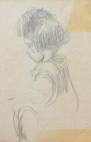 Wojciech Weiss (1875 Leorda na Bukowinie - 1950 Kraków), Portret dziewczynki (Hani)