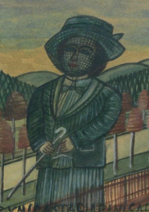 Nikifor Krynicki (1895 Krynica-1968 Folusz), Portret kobiety