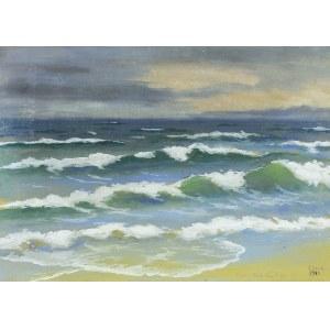 Soter Małachowski-Jaxa (1867 Wolanów - 1952 Kraków), Morze, 1922 r.