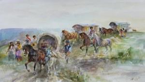 Zenon Aniszewski (ur. 1948 r. Grudziądz), Tabor cygański, 2021 r.