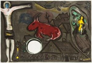 """Marc Chagall (1887 Łoźno k. Witebska-1985 Saint-Paul de Vence), Mistyczne Ukrzyżowanie Z albumu """"Derierre le Miroir"""", 1950"""