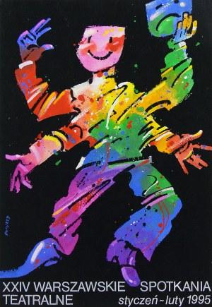 Waldemar Świerzy (1931 Katowice-2013 Warszawa), XXIV Warszawskie Spotkania Teatralne, projekt plakatu, 1995 r.