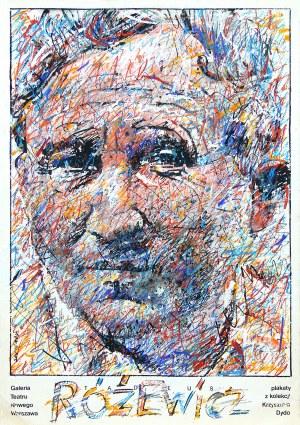 Waldemar Świerzy (1931 Katowice-2013 Warszawa), Tadeusz Różewicz, projekt plakatu