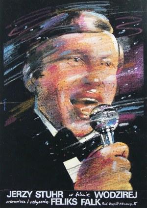 Waldemar Świerzy (1931 Katowice-2013 Warszawa), Jerzy Stuhr w filmie Wodzirej, projekt plakatu, 1978 r.