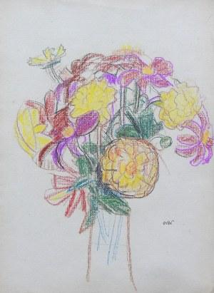 Wojciech Weiss (1875 Leorda na Bukowinie - 1950 Kraków), Kwiaty w wazonie, 1910 r.
