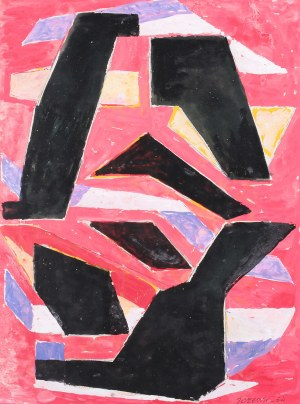 Józef Jarema (1900 Stary Sambor - 1974 Monachium), Kompozycja II, 1954 r.